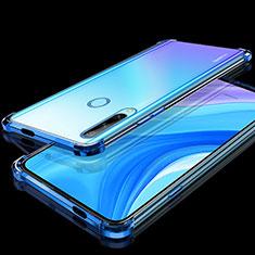 Custodia Silicone Trasparente Ultra Sottile Cover Morbida H01 per Huawei Enjoy 10 Plus Blu
