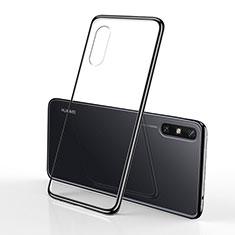 Custodia Silicone Trasparente Ultra Sottile Cover Morbida H01 per Huawei Enjoy 10e Nero