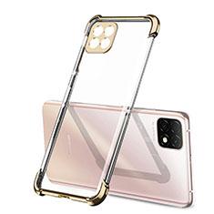 Custodia Silicone Trasparente Ultra Sottile Cover Morbida H01 per Huawei Enjoy 20 5G Oro