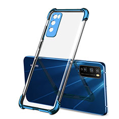 Custodia Silicone Trasparente Ultra Sottile Cover Morbida H01 per Huawei Enjoy 20 Pro 5G Blu