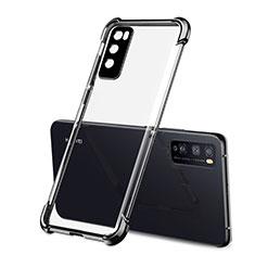 Custodia Silicone Trasparente Ultra Sottile Cover Morbida H01 per Huawei Enjoy 20 Pro 5G Nero
