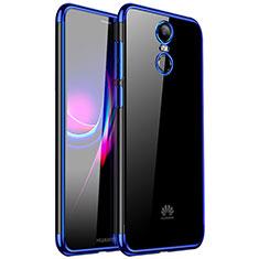 Custodia Silicone Trasparente Ultra Sottile Cover Morbida H01 per Huawei Enjoy 6 Blu