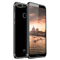 Custodia Silicone Trasparente Ultra Sottile Cover Morbida H01 per Huawei Enjoy 8 Nero