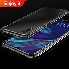 Custodia Silicone Trasparente Ultra Sottile Cover Morbida H01 per Huawei Enjoy 9 Nero