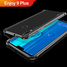 Custodia Silicone Trasparente Ultra Sottile Cover Morbida H01 per Huawei Enjoy 9 Plus Nero