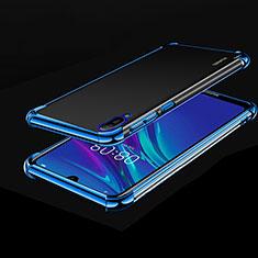 Custodia Silicone Trasparente Ultra Sottile Cover Morbida H01 per Huawei Enjoy 9e Blu