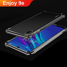 Custodia Silicone Trasparente Ultra Sottile Cover Morbida H01 per Huawei Enjoy 9e Nero