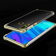 Custodia Silicone Trasparente Ultra Sottile Cover Morbida H01 per Huawei Enjoy 9s Oro