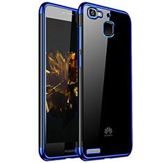 Custodia Silicone Trasparente Ultra Sottile Cover Morbida H01 per Huawei G8 Mini Blu