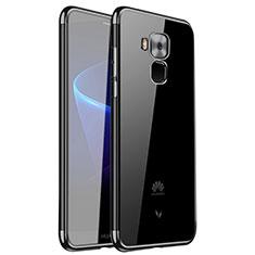 Custodia Silicone Trasparente Ultra Sottile Cover Morbida H01 per Huawei G9 Plus Nero