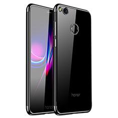 Custodia Silicone Trasparente Ultra Sottile Cover Morbida H01 per Huawei GR3 (2017) Nero