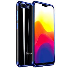 Custodia Silicone Trasparente Ultra Sottile Cover Morbida H01 per Huawei Honor 10 Blu