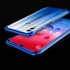 Custodia Silicone Trasparente Ultra Sottile Cover Morbida H01 per Huawei Honor 10 Lite Blu
