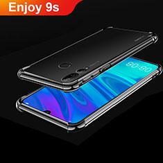 Custodia Silicone Trasparente Ultra Sottile Cover Morbida H01 per Huawei Honor 20 Lite Nero