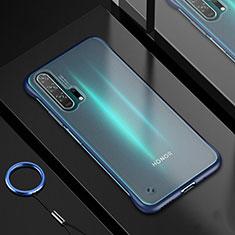 Custodia Silicone Trasparente Ultra Sottile Cover Morbida H01 per Huawei Honor 20 Pro Blu
