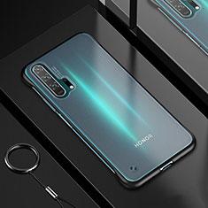 Custodia Silicone Trasparente Ultra Sottile Cover Morbida H01 per Huawei Honor 20 Pro Nero