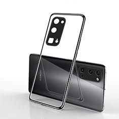 Custodia Silicone Trasparente Ultra Sottile Cover Morbida H01 per Huawei Honor 30 Pro Nero