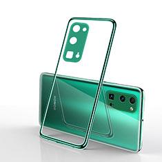 Custodia Silicone Trasparente Ultra Sottile Cover Morbida H01 per Huawei Honor 30 Pro Verde