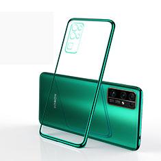 Custodia Silicone Trasparente Ultra Sottile Cover Morbida H01 per Huawei Honor 30 Verde