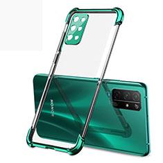 Custodia Silicone Trasparente Ultra Sottile Cover Morbida H01 per Huawei Honor 30S Verde