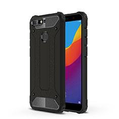 Custodia Silicone Trasparente Ultra Sottile Cover Morbida H01 per Huawei Honor 7A Nero