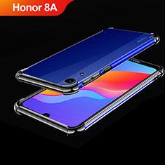 Custodia Silicone Trasparente Ultra Sottile Cover Morbida H01 per Huawei Honor 8A Nero