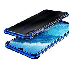 Custodia Silicone Trasparente Ultra Sottile Cover Morbida H01 per Huawei Honor 8X Max Blu