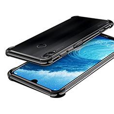Custodia Silicone Trasparente Ultra Sottile Cover Morbida H01 per Huawei Honor 8X Max Nero