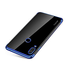 Custodia Silicone Trasparente Ultra Sottile Cover Morbida H01 per Huawei Honor Note 10 Blu