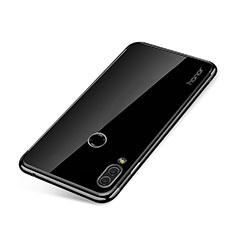 Custodia Silicone Trasparente Ultra Sottile Cover Morbida H01 per Huawei Honor Note 10 Nero