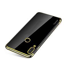 Custodia Silicone Trasparente Ultra Sottile Cover Morbida H01 per Huawei Honor Note 10 Oro