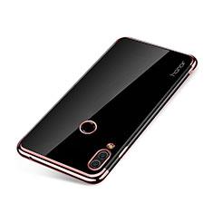 Custodia Silicone Trasparente Ultra Sottile Cover Morbida H01 per Huawei Honor Note 10 Oro Rosa