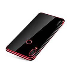 Custodia Silicone Trasparente Ultra Sottile Cover Morbida H01 per Huawei Honor Note 10 Rosso