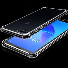 Custodia Silicone Trasparente Ultra Sottile Cover Morbida H01 per Huawei Honor Play 7 Chiaro