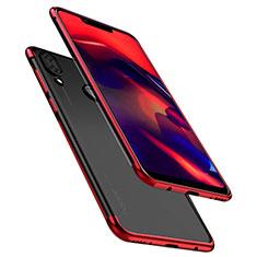Custodia Silicone Trasparente Ultra Sottile Cover Morbida H01 per Huawei Honor Play Rosso