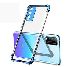 Custodia Silicone Trasparente Ultra Sottile Cover Morbida H01 per Huawei Honor Play4T Pro Blu