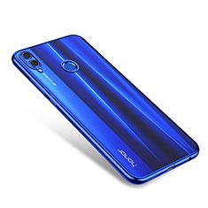 Custodia Silicone Trasparente Ultra Sottile Cover Morbida H01 per Huawei Honor V10 Lite Blu