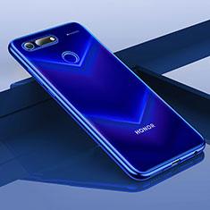 Custodia Silicone Trasparente Ultra Sottile Cover Morbida H01 per Huawei Honor V20 Blu