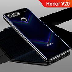 Custodia Silicone Trasparente Ultra Sottile Cover Morbida H01 per Huawei Honor V20 Nero