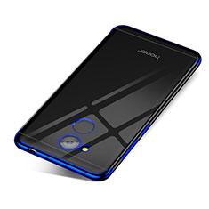 Custodia Silicone Trasparente Ultra Sottile Cover Morbida H01 per Huawei Honor V9 Play Blu