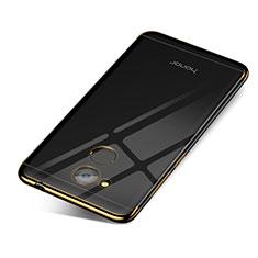 Custodia Silicone Trasparente Ultra Sottile Cover Morbida H01 per Huawei Honor V9 Play Oro