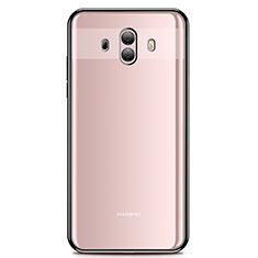 Custodia Silicone Trasparente Ultra Sottile Cover Morbida H01 per Huawei Mate 10 Nero
