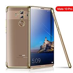 Custodia Silicone Trasparente Ultra Sottile Cover Morbida H01 per Huawei Mate 10 Pro Oro