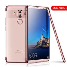 Custodia Silicone Trasparente Ultra Sottile Cover Morbida H01 per Huawei Mate 10 Pro Oro Rosa