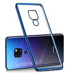 Custodia Silicone Trasparente Ultra Sottile Cover Morbida H01 per Huawei Mate 20 Blu