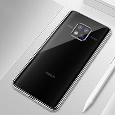 Custodia Silicone Trasparente Ultra Sottile Cover Morbida H01 per Huawei Mate 20 Pro Chiaro