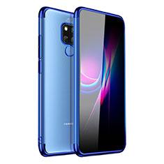 Custodia Silicone Trasparente Ultra Sottile Cover Morbida H01 per Huawei Mate 20 X Blu
