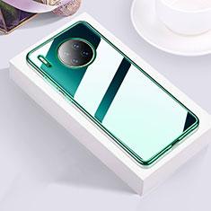 Custodia Silicone Trasparente Ultra Sottile Cover Morbida H01 per Huawei Mate 30 Verde