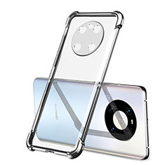 Custodia Silicone Trasparente Ultra Sottile Cover Morbida H01 per Huawei Mate 40 Argento