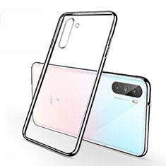 Custodia Silicone Trasparente Ultra Sottile Cover Morbida H01 per Huawei Mate 40 Lite 5G Argento